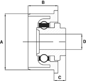 Plastic Roller Bearings Technical Drawing