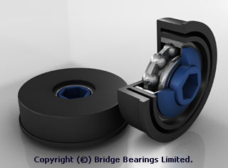Precision Bearings – Plastic Housed Technical Drawing