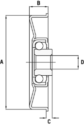 Semi Precision Bearings Technical Drawing