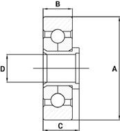 Conveyor Chain Bearing Wheels Technical Drawing
